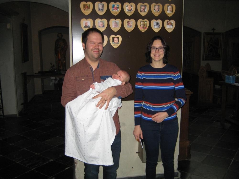 Teun, zoon van Bram Kempen en Kim Peeters 16-12-2018