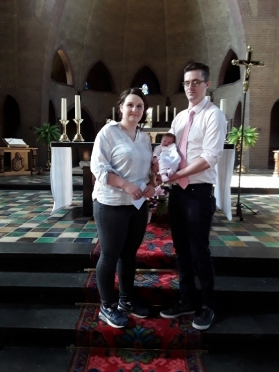 Sofia, dochter van Jari Burhenne en Marta Kruszewska, 04-05-2018